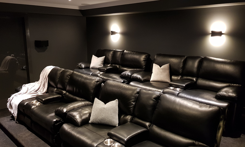 Entertainment Room With Plush, Theatre Room Furniture